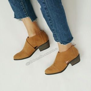 Shoes - Ankle Booties - Chestnut